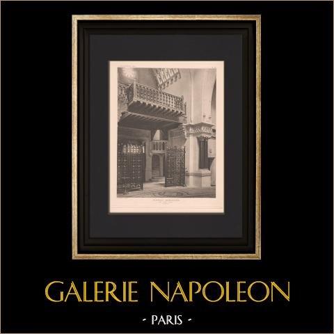 Architektur - Armenisch Kapelle - Paris (Guilbert - Dufeu) | Original heliogravüre. Anonyme. 1906