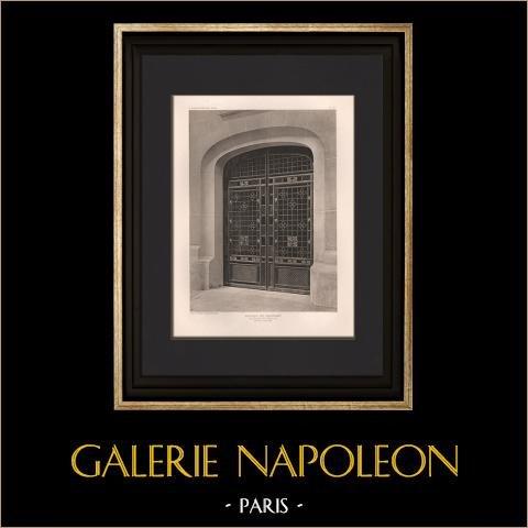 Arquitectura - Casa - Avenue de Wagram en Paris (A. & G. Perret) | Original helio grabado según A. & G. Perret. 1906