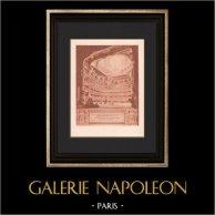 Architecture - Salle de Spectacle bâtie par Victor Louis au Palais-Royal (Prudent & Gadet) | Héliogravure originale d'après Prudent & Gadet. 1906