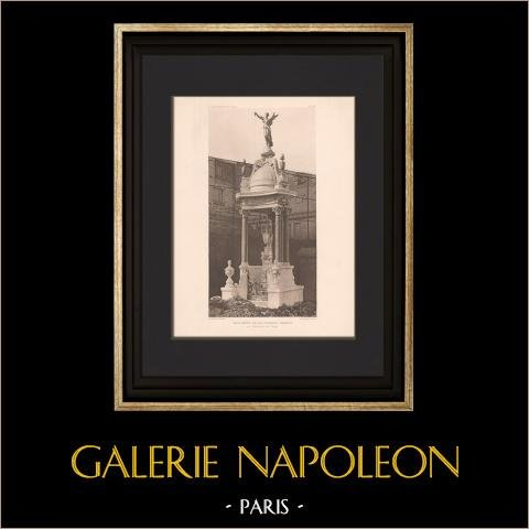 Arquitectura - Monumento Funerario - Cementerio de Passy - Paris (Defrasse - Capellaro) | Original helio grabado según Defrasse. 1906