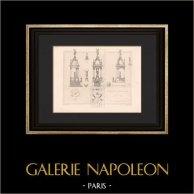 Architecture - Funerary Monument - Passy Cemetery - Paris - Plan (Defrasse - Capellaro)