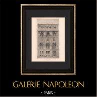 Architecture - Hôtel particulier à Paris (Bouwens Van der Boyen) | Héliogravure originale d'après Bouwens Van der Boyen. 1906