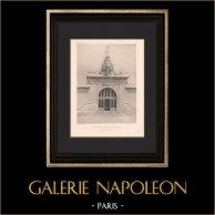 Architecture - Exposition coloniale de Marseille - Palais de l'Océanographie (Fournez)   Héliogravure originale d'après Fournez. 1906