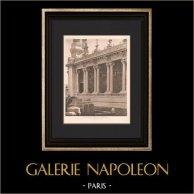 Architecture - Exposition coloniale de Marseille - Grand Palais - Portique (Bentz)