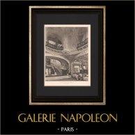 Architecture - Restaurant - Le Pré Catelan - Paris (Tronchet) | Héliogravure originale d'après Tronchet. 1906