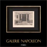 Architecture - Hôtel particulier à Paris (Barberis & Fournier de St Maur) | Héliogravure originale d'après Barberis & Fournier de St Maur. 1906
