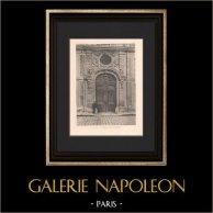 Architecture - Chefferie du Génie - Hotel du Gouvernement à Versailles (Robert de Cotte) | Héliogravure originale d'après Robert de Cotte. 1906
