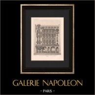 Architecture - Maison des Dames des Postes, Télégraphes et Téléphones - Paris (Bliault) | Héliogravure originale d'après Bliault. 1906