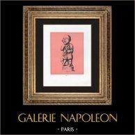 Collection du Cabinet Secret - Erotica - Drillopota - Bouffon Grotesque - Phallus | Impression sur papier velin. Anonyme. 1959