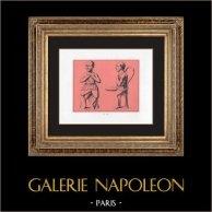 Collection du Cabinet Secret - Erotica - Drillopotae - Bouffons Grotesques - Phallus | Impression sur papier velin. Anonyme. 1959