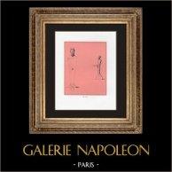 Collection du Cabinet Secret - Erotica - Deux Hermès en Bronze - Pan Barbu - Phallus - Pan   Impression sur papier velin. Anonyme. 1959