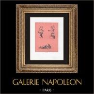 Collection du Cabinet Secret - Erotica - Phallus - Femme Portant un Collier de Phallus - Satyre - Erection