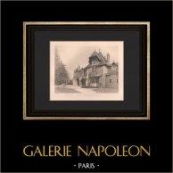 Architecture - Castle of Presles - Annexes - Val-d'Oise (Sédille) | Original heliogravure after Sédille. 1907