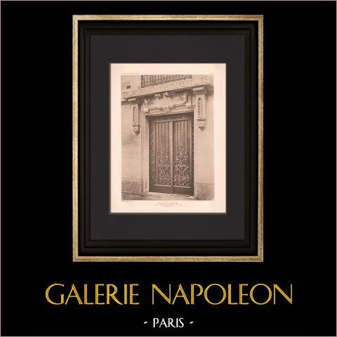 Arquitectura - Casa - Rue de Grenelle en Paris (Deglane) | Original helio grabado según Deglane. 1907