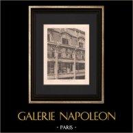 Arquitectura - La Samaritaine - Gran almacén de Paris (Frantz Jourdain) | Original helio grabado según Frantz Jourdain. 1907
