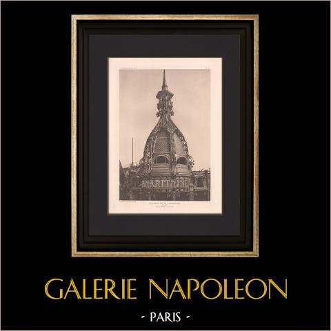 Architecture - La Samaritaine - Dome - Large department store in Paris (Frantz Jourdain) | Original heliogravure after Frantz Jourdain. 1907