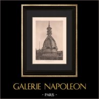 Arquitectura - La Samaritaine - Cúpula - Gran almacén de Paris (Frantz Jourdain) | Original helio grabado según Frantz Jourdain. 1907
