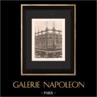 Arquitectura - Grand Bazar Rennes - Gran almacén de Paris (Gutton) | Original helio grabado según Gutton. 1907