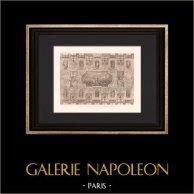 Architecture - Décoration - Petit Palais des Beaux-Arts à Paris (Girault) | Héliogravure originale d'après Girault. 1907