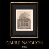 Architecture - Observatoire de Meudon - Hauts-de-Seine (Hardouin-Mansart) | Héliogravure originale d'après Hardouin-Mansart. 1907