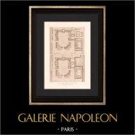 Architecture - Restitution du Château de Meudon - 1710 - Hauts-de-Seine (Lebret) | Héliogravure originale d'après Lebret. 1907