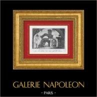 Vue de Tivoli - Galerie des Statues - Villa d'Hadrien - Villa Adriana - Latium