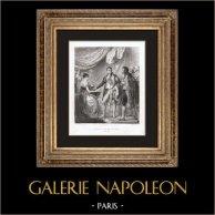 Naissance de Napoléon II Roi de Rome (20 Mars 1811)   Gravure originale en taille-douce sur acier dessinée par Sandoz d'après Rouget, gravée par Hilaire Pigeot. 1846