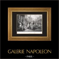 Napoléon Ier reçoit la Reine de Prusse à Tilsit (6 Juillet 1807)