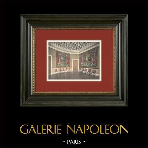 Slottet i Compiègne - Salon de Stuc - Gobeläng av Don Quijote | Original photochrom stick. Anonymt. 1890