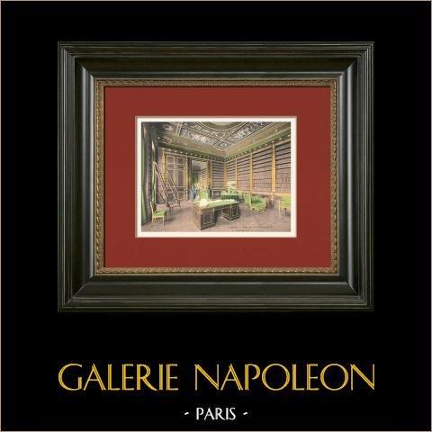 Castello di Compiègne - Ufficio di Napoleone | Stampa fotocromia originale. Anonima. 1890