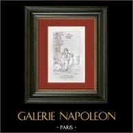 Mythologie - Léto allaitant Diane et Apollon (Le Dominiquin - Domenichino)
