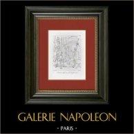 Nerone - Ceneri di Gaio Giulio Cesare Claudiano Germanico (Le Sueur) | Incisione su rame originale secondo Le Sueur incisa da Le Bas. 1844