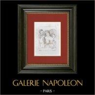 Portrait of Woman - Mirror - Toilet (Titien - Titian - Tiziano - Tizian - Tiziano Vecellio)
