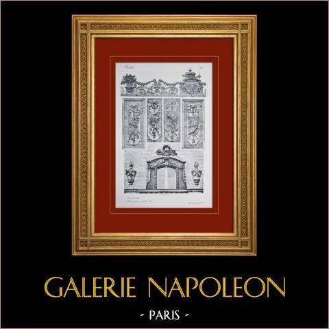 Paleis van Versailles - Cour Royale - details des façades et de la toiture |