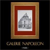 Château de Versailles - Chapelle - Vue d'ensemble sur le chevet | Héliogravure originale. Anonyme. 1911
