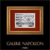 Château de Versailles - Chapelle - Dessus de fenêtres   Héliogravure originale. Anonyme. 1911