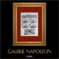 Château de Versailles - Chapelle - Dessus de fenêtres - Gargouille | Héliogravure originale. Anonyme. 1911