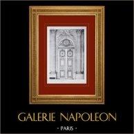 Palacio de Versalles - Chapelle - Porte du Vestibule 1er étage