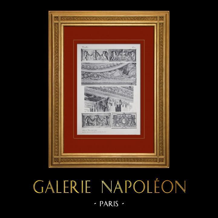 Gravures Anciennes & Dessins   Château de Versailles - Salon de Vénus - Détails des chapiteaux   Héliogravure   1911