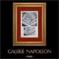 Palace of Versailles - Salons de Mars et de Diane - Détails des plafonds