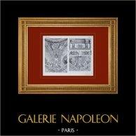 Palace of Versailles - Salon de la Guerre - Détails des corniches et du plafond