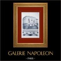 Château de Versailles - Le Grand Trianon - Chapiteaux | Héliogravure originale. Anonyme. 1911