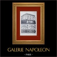 Château de Versailles - Le Grand Trianon - Façade côté jardins - Dessus de fenêtres   Héliogravure originale. Anonyme. 1911