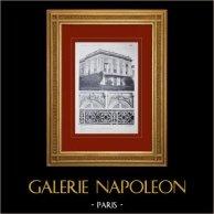 Palazzo di Versailles - Le Grand Trianon - Façade côté jardins - Dessus de fenêtres