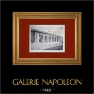 Slottet i Versailles - Le Grand Trianon - Péristyle côté jardins | Original heliogravyr sepia. Anonymt. 1911