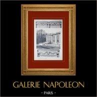 Château de Versailles - Le Grand Trianon - Façade sur les jardins - Chapiteaux