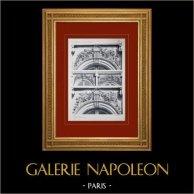 Château de Versailles - Le Grand Trianon - Façades diverses - Dessus de fenêtres