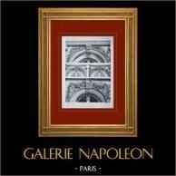 Palácio de Versalhes - Le Grand Trianon - Façades diverses - Dessus de fenêtres
