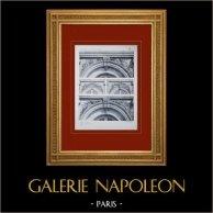 Palace of Versailles - Le Grand Trianon - Façades diverses - Dessus de fenêtres
