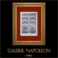 Palazzo di Versailles - Le Grand Trianon - Façades diverses - Dessus de fenêtres